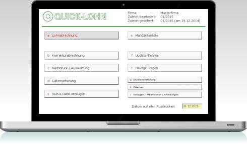 malerlohn baulohn software lohnprogramm lohnsoftware f r. Black Bedroom Furniture Sets. Home Design Ideas